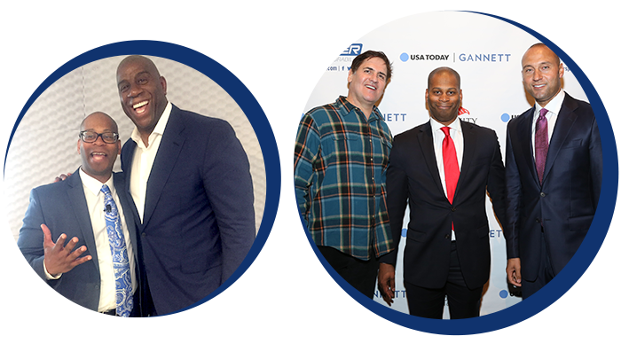 Kool Kel With Magic Johnson And Mark Cuban